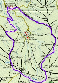 Cartina G.F. dei Loricati